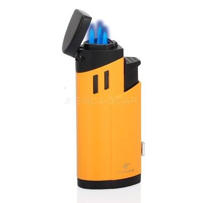 COHIBA Metal Butane 3 Torch Jet Flame Cigarette Cigar Lighter With Cigar Punch