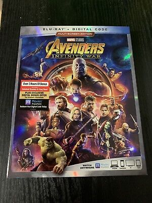 Avengers Infinity War Blu Ray WITH DIGITAL CODE Unopened, USA Seller Marvel