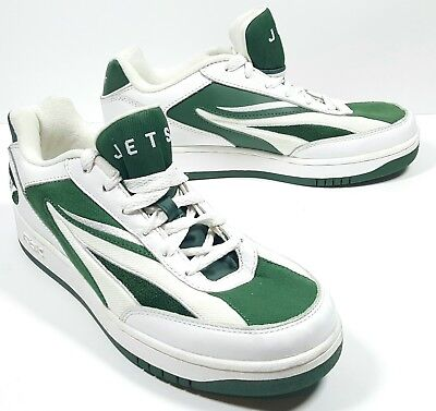 66f1ba55d7f New York Jets Mens NFL Football Reebok Sneakers Shoes Green White Size 9