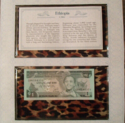 *Most Treasured Banknotes Ethiopia 1976 1 Birr P 30b  UNC Prefix CH