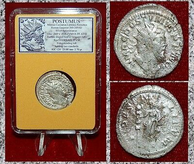 Ancient Roman Empire Coin POSTUMUS Fides On Reverse Silvered Antoninianus