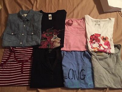 Womens Lot of short sleeve and sleeveless shirts size medium 8 shirts total