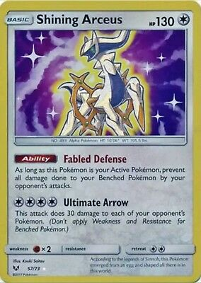 Pokemon - Shining Legends - Shining Arceus - 57/73 - Holo Rare - NM/M , New