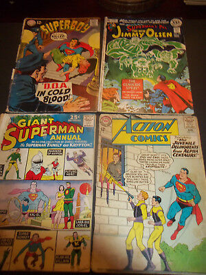 Lot Of 4 Silver Age DC Action comics 315 Jimmy Olsen 143 Superboy 151 Annual 5