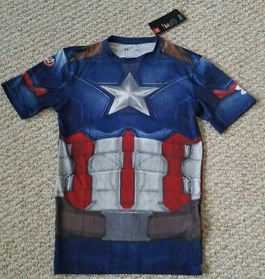 Captain America Civil War Under Armour NEW Heat Gear Compression Mens Size L
