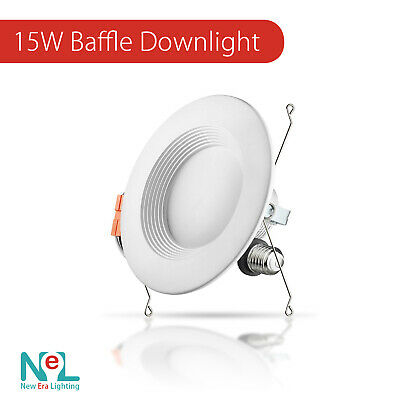4-72 X 5-6 inch 15W DownLight Baffle LED Recessed Dimmable Retrofit Can Light