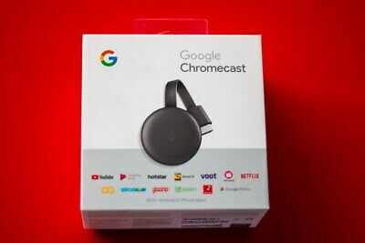 BRAND NEW Google Chromecast 3 Chrome Cast WiFi Digital Media Video Stream HD TV