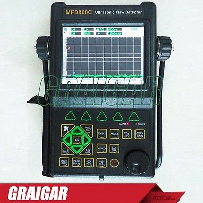 New MFD800C Ultrasonic Flaw Detector with hi-resolution color TFT LCD Display