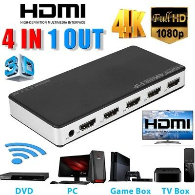 5 To 1 HDMI Splitter Selector Switch Full HD 1080p 3D 2K 4K IR Remote Hub HDTV
