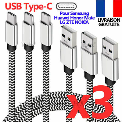 Chargeur Type-C Android Universel Sync Pour Samsung S9 S8 Huawei Honor Zte Lg