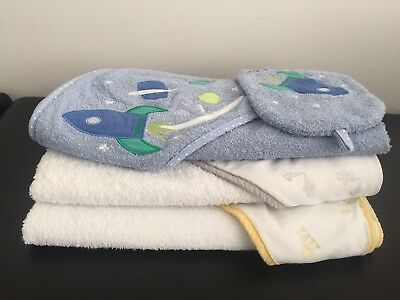Mothercare Space Dreamer Cuddle & Dry Hooded Towel & Wash Mitt And Others