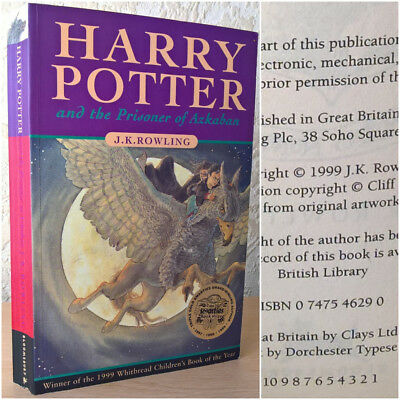 J. K. Rowling- Harry Potter and the Prisoner Of Azkaban, 1999 [First Edition]
