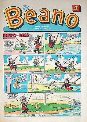 BEANO - 28th DECEMBER 1968 (26 Dec - 1 Jan) FAB 50th BIRTHDAY GIFT !! VG+ topper
