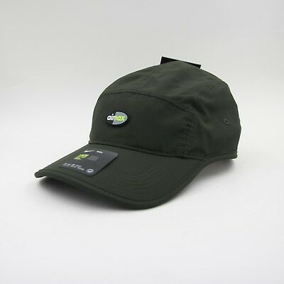 ddd4e175f90ac8 New Mens Nike Air Max Five 5 Panel Olive Running Cap Hat 916350 355 OS 1