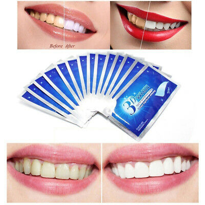 28Pcs Teeth Whitening Strips Advanced 3D Whitening Strips Dental Bleaching JDUK