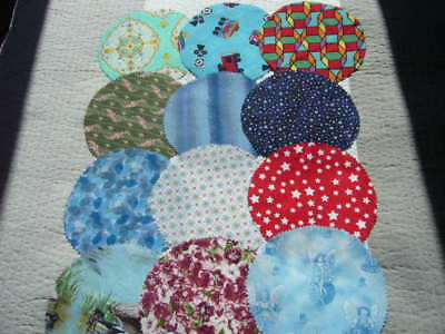 12 X Fabric Jar Lid Covers For Your Home Made Jams Preserves Pickles And Etc