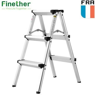 Finether 2.4ft Échelle Escabeau Pliant Aluminium Multifonction A-Frame Ladder