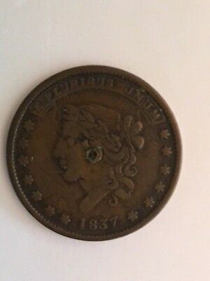 "1837 Hard Times Token ""Not One Cent """