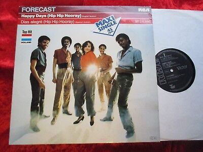 "Forecast - Happy Days (Hip Hip Hooray) GERMANY 12"" Maxi (1982)"