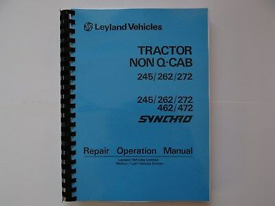 Non Q Cab 245/262/272   Leyland Repair Manual