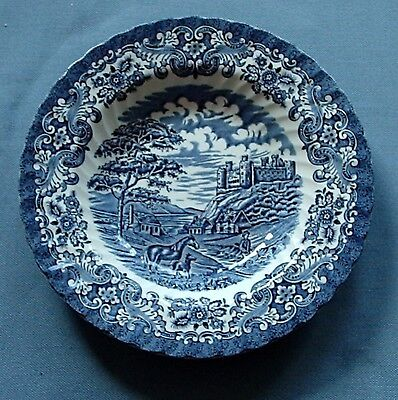 6 Suppenteller Hostess Tableware blau / British Anchor / Old Country Castle