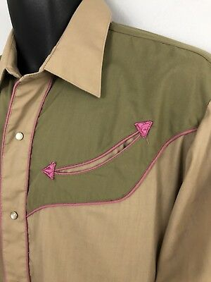 Levis Vintage SIZE L LARGE Pocket Arrows L/S Pearl Snap Western Shirt Rockabilly
