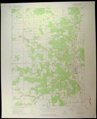 St. Charles Michigan Saginaw County 1978 vintage USGS original Topo chart map