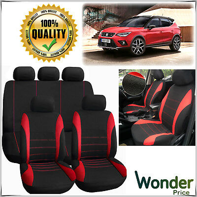Universal Car Protectors Red Black Washable Seat Covers Airbag Compatible Set UK