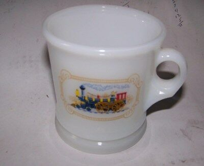 Vintage Avon Train Milk Glass Shaving Mug Fire King