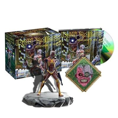 Iron Maiden Somewhere In Time CD, 2019 Collectors Set w/Eddie Figure NEW