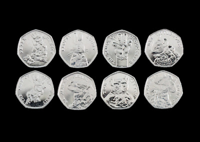 2017 & 2018 Brand New Uncirculated Beatrix Potter Full Set 50p Fifty Pence Coins