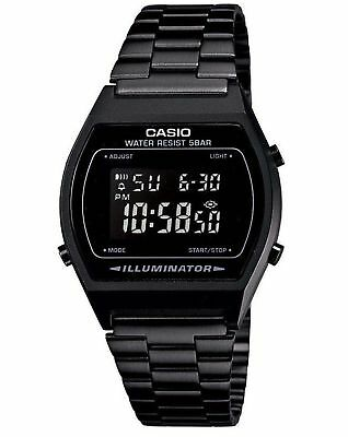 Casio B640WB-1 Retro Illuminator Digital Black Stainless Steel B640WB-1B Watch
