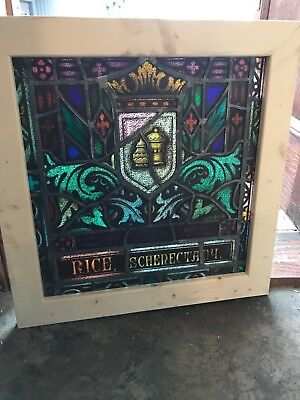 Sg 2634 Antique Painted In Fired Sacrament Window 26 x 26.5