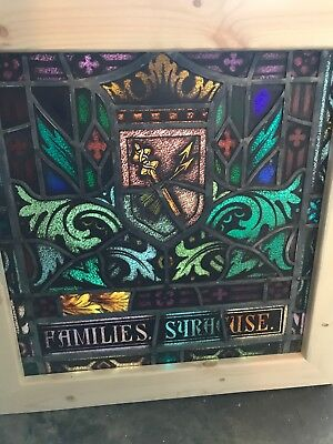 SG 2636 Antique Painted In Fired Window Arrows Families Syracuse 97 x 26.25