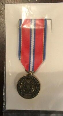 US COAST GUARD Reserve Good Conduct Medal Mini Award Ribbon Dress Blue  Uniform
