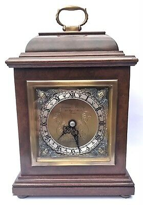 ELLIOTT LONDON Walnut Bracket Mantel Clock GARRARD & CO  112 REGENT ST LONDON