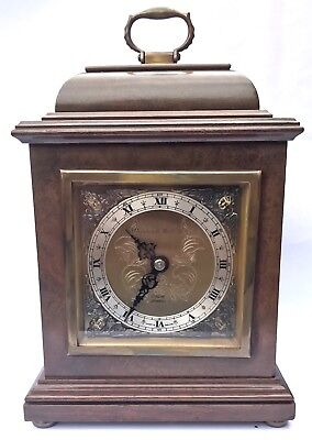 ELLIOTT LONDON Walnut & Burr Walnut Bracket Mantel Clock MAPPIN & WEBB LTD