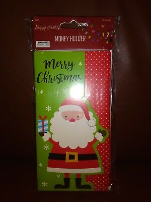 """Merry Christmas"" Gift Card Money Holders With Envelopes"