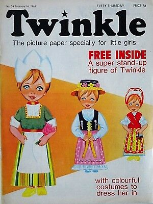 TWINKLE - 1st FEBRUARY 1969 (30 Jan- 5 Feb) RARE 50th BIRTHDAY GIFT !! VFN bunty