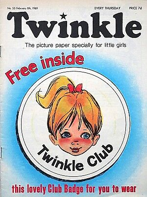 TWINKLE - 8th FEBRUARY 1969 (6 - 12 Feb) RARE 50th BIRTHDAY GIFT !! FINE+..bunty