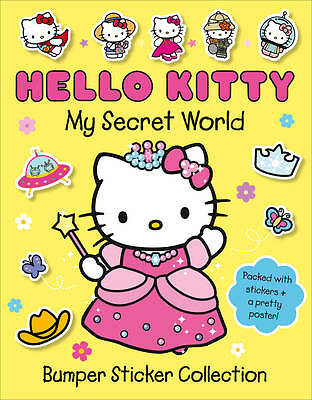 NEW  HELLO KITTY  my Secret World BUMPER STICKER COLLECTION with POSTER
