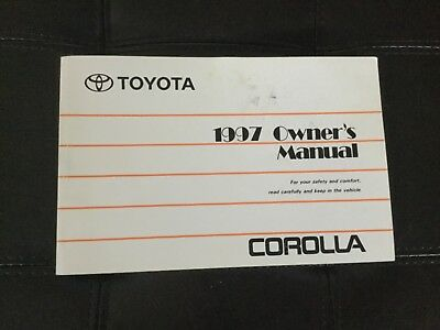 1997 Toyota Corolla Owner's Manual