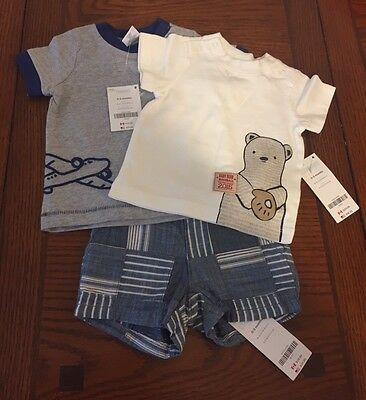 NWT Lot of 3 Gymboree Boys Size 0-3 Months Shirts,shorts
