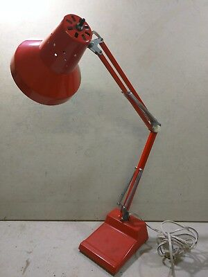 Ledu Articulated Desk Lamp Orange Swing Arm Mid Century Modern Pixar Industrial