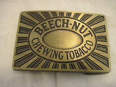 Old Beech-Nut Chewing Tobacco Belt Buckle Clothing