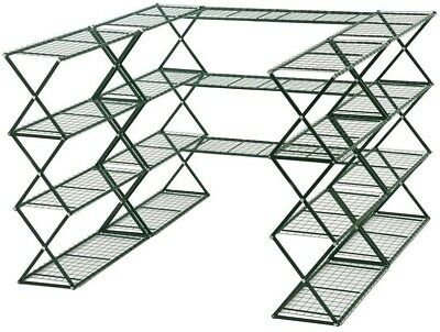FlowerHouse 48 in. H x 18 in. W x 180 in. D 20-Shelves Metal SpringHouse Free