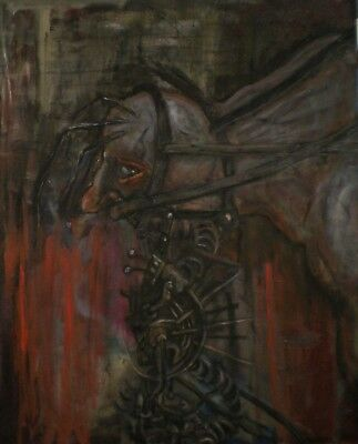 Deconstruction. Original oil on canvas painting by JCJGR Theme: monsters.