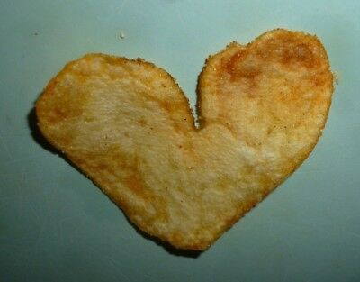 Heart Shaped BBQ Potato Chip Nice Clean Edges