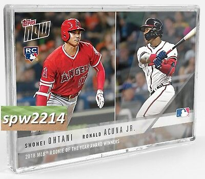 2018 Topps Now Bundle (9) AW1-AW7 Ohtani, Acuna, deGrom, Snell, Yelich, Betts