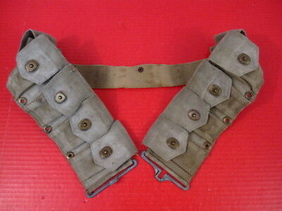 WWII US Army Dismounted M1923 Ammunition Cartridge Belt - M1 Garand - OD Green 5